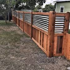 Wood And Metal Fencing Privacy Fence Designs Diy Privacy Fence Backyard Fences