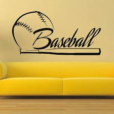 Baseball Sticker Car Decal Sports Posters Home Decoration Vinyl Wall Decals Decor Mural Baseball Wall Decal Sticker Jewelry Stickers Fruitsticker Led Aliexpress