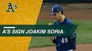 Reliever Joakim Soria signs 2-year deal with A's - YouTube