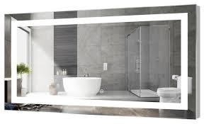 led bathroom mirror with touch sensor