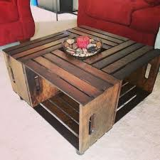 coffee table out of wooden crates
