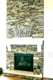faux rock fireplace stone makeover