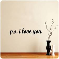 P S I Love You Wall Decal Decor Love Words Large Nice Sticker Text Other Products Amazon Com