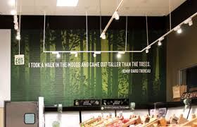 Retail Shop Interior Wall Decal With Inspirational Quote By H Thoreau