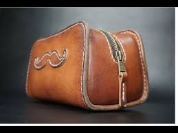 leather toiletry bag tutorial