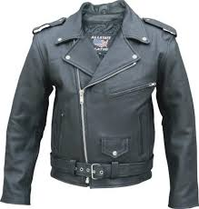 full belt classic motorcycle biker jacket