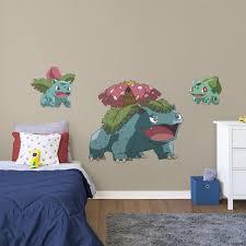 Boys Video Game Room Pokemon Bulbasaur Evolution Wall Decal Follow Us On Pinterest For All Your Ho Kids Bedroom Wall Decor Kids Bedroom Walls Kids Room Wall
