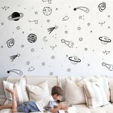 Universe Space Star Planet Wall Art Vinyl Decal Sticker Nursery Kids Room Decor Ebay