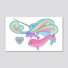 Narwhal Wall Decals Cafepress