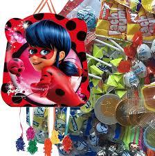 Pinata Juego Lady Bug Con Pinata 100 Juego De Caramelos De