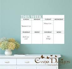 Planer Trocken Loschen Wochenkalender Mit Memo Tafel Kalender Vinyl Wall Decal Dry Erase Wall Calendar Dry Erase Wall Dry Erase Calendar