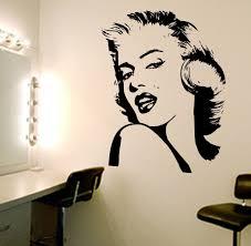 Marilyn Monroe Wall Decal Wall Decal Wall Art Decal Sticker