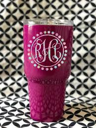 Lilly Pulitzer Inspired Decal Monogram Decal Tumbler Etsy
