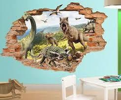 Jurassic Park 3d Wall Decal Dinosaurs Wall Sticker Removable Vinyl Sticker Ebay