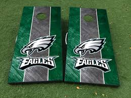 Product Philadelphia Eagles Football Cornhole Board Game Decal Vinyl Wraps With Laminated