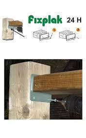 Deck Rail End Horizontal Brackets 3x2 Khaki Color Box 100