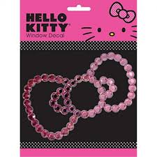 Chroma 001128 Cling Bling Hello Kitty Pink Bow Decal Carkart