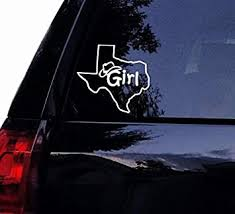 Amazon Com Celycasy Texas Girl State Outline Decal Cowgirl Vinyl Car Decal Laptop Decal Car Wall Boat Water Bottle Sticker Wall Decor Baby