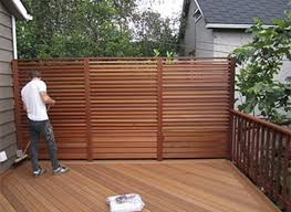 Exotic Hardwood Deck Privacy Fence 1 Little Star Renovations