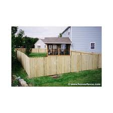 Solid Dog Ear Wood Fence Panels Straight Top Treated Hoover Fence Co