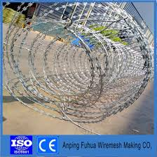 China Best Sellers Products Rust Concertina Proof Razor Barbed Wire For Nigeria China Barbed Wire Fence Concertina Barbed Wire