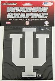 Iu Indiana University Window Graphic Metallic Silver Chrome Vinyl Decal 4x5 94746399344 Ebay