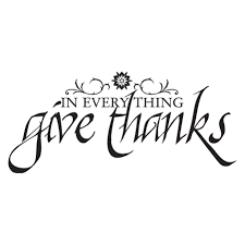 Give Thanks Calligraphy Wall Quotes Decal Wallquotes Com