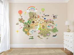 Nursery World Map Neverland Map Decal Peter Pan Map Decal Clear Walls2lifedecals