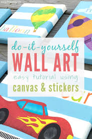 Diy Wall Art For Kids Rooms That Everyone Can Make