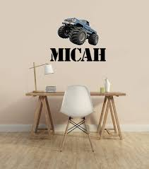 Amazon Com Bigfoot 4x4 Monster Truck Running Over Name Decal Removable Wall Decal Official Wall Slaps Handmade