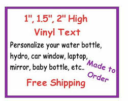 Personalize Vinyl Decal Text Lettering For Tumbler Water Bottle Car Hydro Ebay