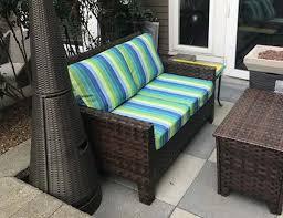 cheery sunbrella striped cushion covers