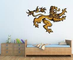 Medieval Lion Vinyl Wall Decal Medievallionuscolor002 Contemporary Wall Decals By Vinyl Disorder Inc