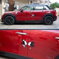 Mini Cooper Disney Mickey Minnie Mouse Cute Car Decals Cute Cars Cute Car Decals Disney Car Accessories