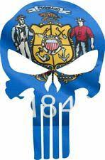 Punisher Skull Wisconsin Flag Window Decal Sticker Graphic Multiple Buckup Tactical
