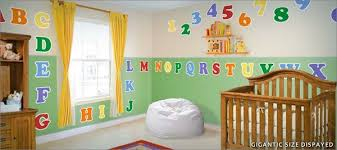 Alphabet And Numbers Fabric Wall Decals Istickup Wall Stickers Istickup