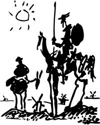Don Quixote Picasso Wall Sticker Tenstickers