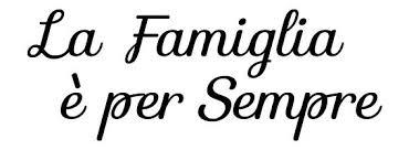 La Famiglia E Per Sempre Wall Decal Italian Word Decor Whimsidecals