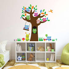 3018 Removable Night Owl Wall Stickers Large Tree Wall Decals Diy Bird Animal Home Decor For Kids Rooms White Tree Wall Stickers White Vinyl Wall Decals From Fst1688 8 64 Dhgate Com