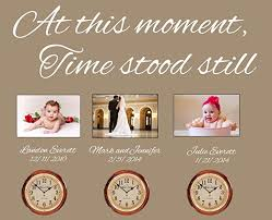 Amazon Com Susie85electra At This Moment Time Stood Still Wall Decor Wall Sticker Vinyl Quote Clock Decal In This Moment Decal Family Gift Wall Decor Home Kitchen