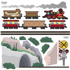 Train Murals Train Mural Ideas Themes For Fun Boys Bedrooms