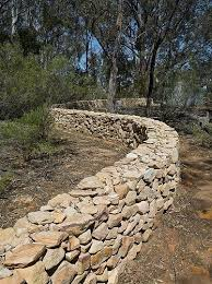 Dry Pack Wall 5 Stone Walls Garden Stacked Stone Walls Dry Stone Wall
