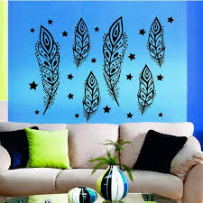 Shop 6 Feathers Nib Interior Design Vinyl Stars Sticker Art Mural Kids Room Wall Decor Sticker Decal 22 X 30 Color Black Overstock 15434508