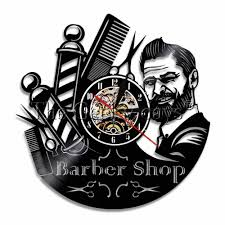 1piece Barber Shop Sign Duvar Saati Vinyl Record Wall Clock Modern Barber Pole Beauty Hair Salon Wall Clock Hairdresser Gift Wall Clocks Aliexpress