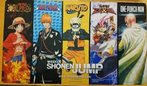 Weekly Shonen Jump Playmat One Punch Naruto Bleach One Piece Yugioh NM
