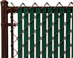 Amazon Com Tube Slats Privacy Inserts For Chain Link Fence Double Wall Vertical Bottom Locking Slats For 8 Fence Height Green Garden Outdoor