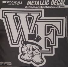 Amazon Com Promark Wake Forest Demon Deacons 6 Silver Metallic Mirrored Style Vinyl Auto Decal University Of Sports Outdoors
