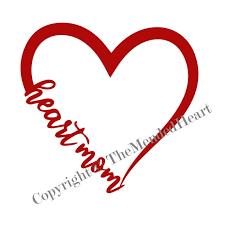 Heart Mom Vinyl Decal Heart Mom Sticker Heart Mom Decal Etsy