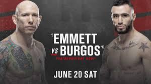 Видео боя Шейн Бургос — Джош Эмметт UFC on ESPN 11