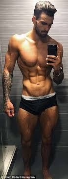 Love Island hunk Adam Collard shows off his body transformation | Daily  Mail Online